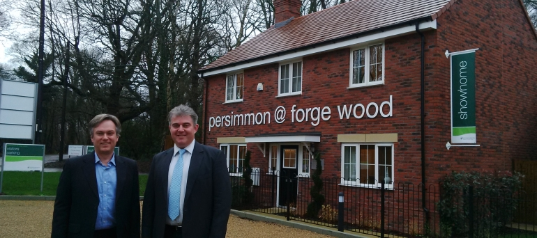 Henry Smith MP and Housing Minister visit Crawley's newest neighbourhood