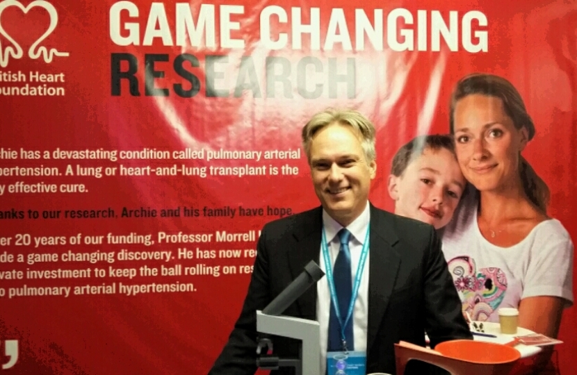 Crawley MP reaffirms support for British Heart Foundation