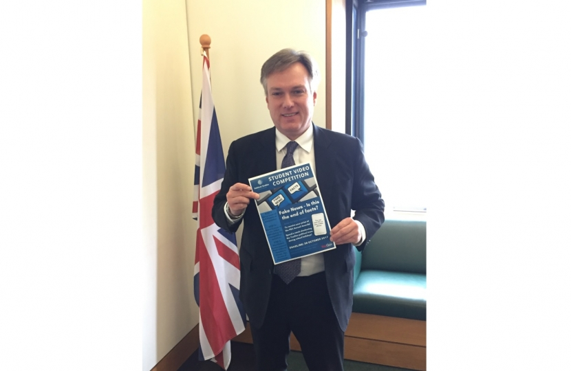 Henry Smith MP invites Crawley students to enter video competition on fake news