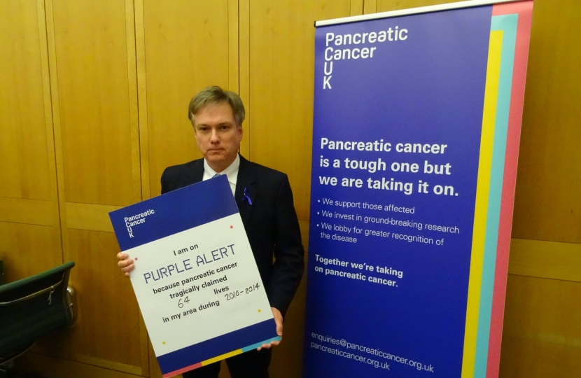 Henry Smith MP on Purple Alert to change the future for people affected by pancreatic cancer