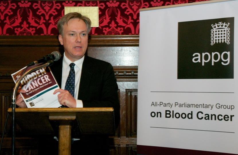 Crawley MP leads blood cancer call in Parliament
