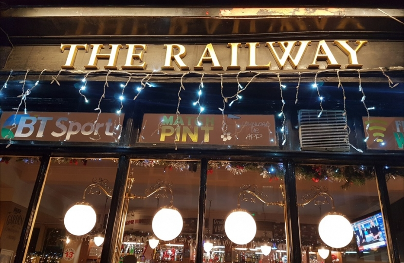 Henry Smith MP names The Railway as Christmas Pub Competition winner