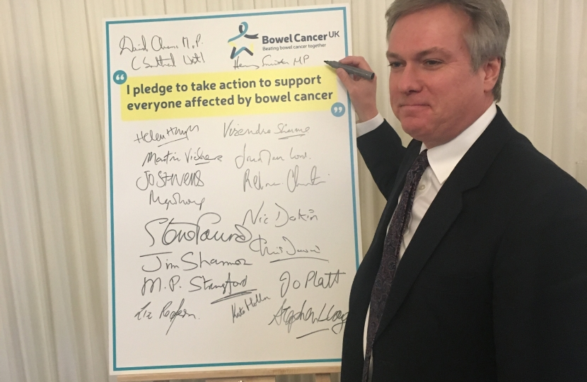 Crawley MP pledges to be a Bowel Cancer Champion
