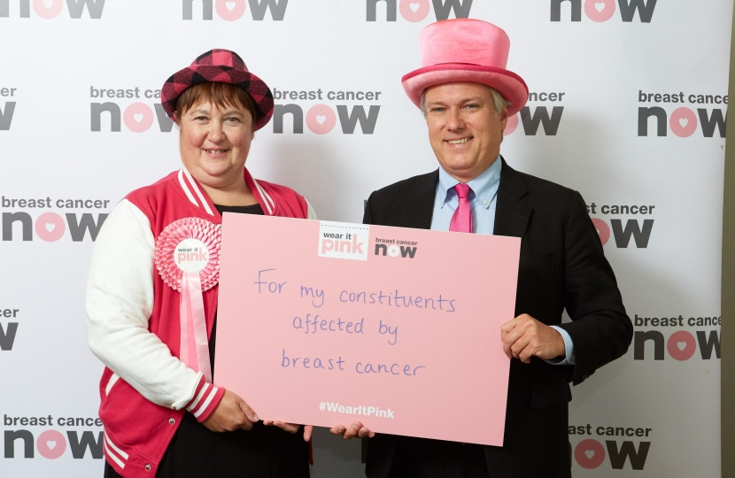 Henry Smith MP Wears It Pink for Breast Cancer Now