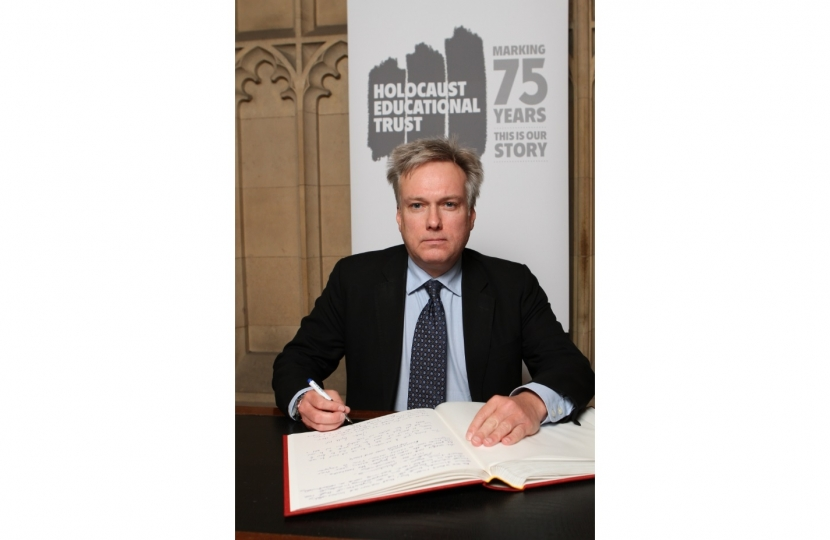 Crawley MP signs Holocaust Educational Trust Book of Commitment
