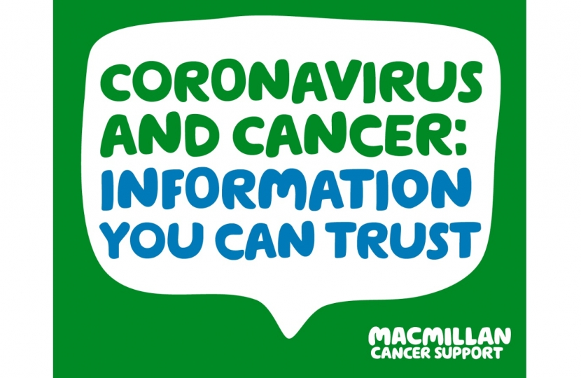 Henry Smith MP backs Macmillan Cancer Support's coronavirus information hub