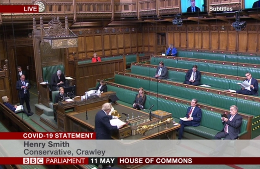 Henry Smith MP questions Prime Minister in Parliament on COVID-19 aviation support