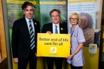 Henry Smith MP and Stephen Mangan help launch Marie Curie Great Daffodil Appeal