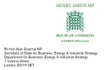 Henry Smith MP Westminster Report - April 2020